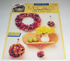McCALLS FABRIC CRAFT PATTERN LEAFLET PINK AND POKE PLUS SEW FREE 1993 14127