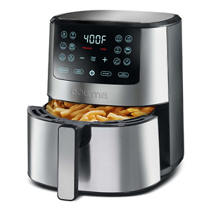 Digital Air Fryer Oven Stainless Steel 4 Quart Cooker With Electric Touchscreen