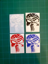 Punisher Distressed Set Of 4 3 Tall Vinyl Stickers Decal 2nd Amendment