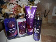Bath & Body Works Merry Cherry Cheer, 4 Pc. Set with Fragrance Mist