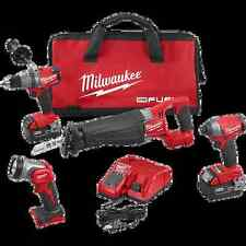 NEW MILWAUKEE 2896-24 M18 FUEL 18 VOLT DELUXE 4 PC TOOL CORDLESS TOOL COMBO SET