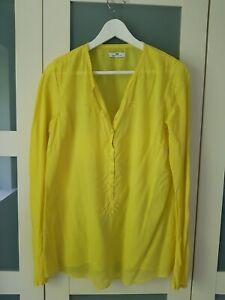 DAY Birger et Mikkelsen 36 8 10 Yellow Fine Cotton India Lightweight Shirt Blous