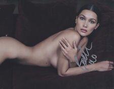 Bella Hadid IMG Nude Covered Model Look Hand Signed 8x10 Photo w/COA