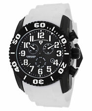 Swiss Legend Commander Chronograph White Silicone Black Dial Titanium Case