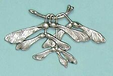 Brooch design of sycamore leaves and spinners - Art Nouveau style - beautiful
