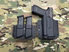 Black Kydex Holster for Glock 17 22 Olight PL-2 Valkyrie & Dual Magazine Carrier