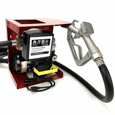 110V Electric Diesel Oil Fuel Transfer Pump w/ Meter with 13' Hose & Nozzle Kit