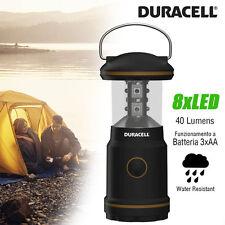 Lampada Da Campeggio Emergenza 8 LED Luce Portatile a Batteria Lantern Duracell