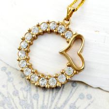 Love heart pendant necklace romantic costume jewellery