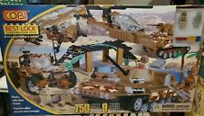 COBI BEST LOCK Desert Military Set w/ Tank Jeep Minifigures Lego compatible MISB