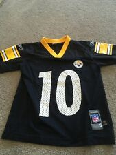 Black Pittsburgh Steelers #10 Holmes Jersey By Reebok Kids Small