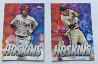 2020 Topps Series 1 Thirsty For 30 Rhys Hoskins #rh-16 And #rh-22