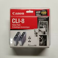 Canon CLI-8 Value Pack 2 Black Ink Cartridges Brand New Sealed