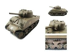 RC tanques llenos de metal m4a3 Sherman metal Army Green rtr, True Sound, 2,4ghz 23084
