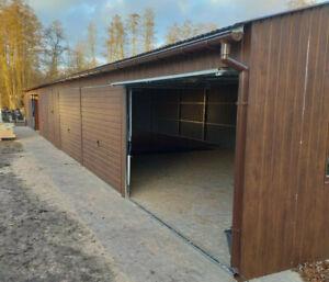 Blechgarage 20x6 m Schuppen Halle Fertiggarage Mehrzweck Garage ,Metallgaragen