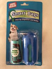 "Pet Waste Bags + Dispenser - Now bigger! 9""x14"" bags - 30 bags -Sold 2pkgs set"