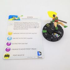 Heroclix DC 10th Anniversary set Robin (Dick Grayson) #014 Uncommon fig. w/card!