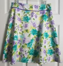 Bass Multicolor Spring Knee-length A-line Short Skirt ~ Tagged Size 6 Fits 8