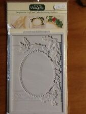 VINTAGE CHRISTMAS PLAQUE OVAL APERTURE SILICONE MOULD BY Katy Sue Designs -NEW