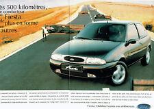 Publicité Advertising 078  1996   la Ford  Fiesta  moteur zetec (2pages)
