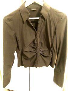 Karen Millen Black Corseted Shirt Size 12