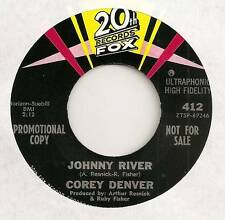 COREY DENVER 45 JOHNNY RIVER B/W JOHNNY RIVER THEME VG+ 20TH FOX 412 PROMO
