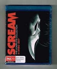 Scream 1-4 (The Complete 4-Movie Collection) Blu-ray 4-Disc Set Brand New Sealed