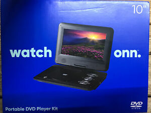 """New Onn Watch Onn Portable 10"""" Portable DVD Player Kit"""