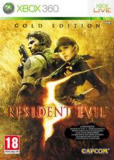 RESIDENT EVIL 5 - EDITION GOLD / XBOX 360 / NEUF SOUS BLISTER D'ORIGINE / VF