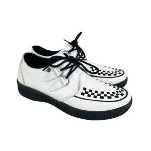TUK F9673 White Vegan Leather Viva Low Creeper Oxford Shoes Mens size 7