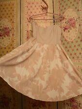 SALE   H& M peach muted floral cotton dress boned bodice  vintage print