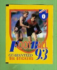 #TT. UNOPENED 1993 SELECT  AFL STICKER PACK -  MELBOURNE  & ST KILDA  FRONT