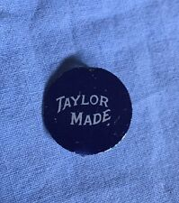 Taylor Made Round Tobacco Tin Cobalt Blue Litho Tag Original 1940's