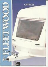 FLEETWOOD CRYSTAL  CARAVAN RANGE SALES BROCHURE LATE 80's