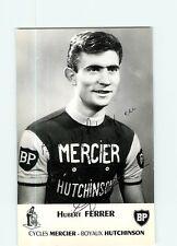 CYCLISME - Hubert FERRER - Autographe manuscrit - Equipe MERCIER  - 2 scans