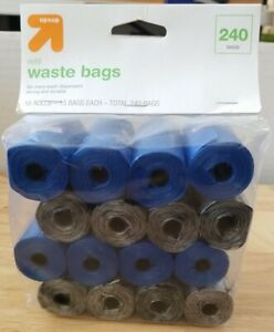 NEW Up&Up Refil Bags 16 Rolls - 15 Bags Each - Total 240 Bags