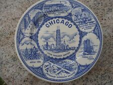 Vintage Collector Plate Chicago Hancock Center State St Sears Tower O'Hare
