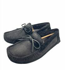 UGG Byron Bomber Jacket Black Fur Slippers Mens Size 8 *NIB*