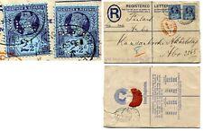1887-92 2 1/2 D X 2 perfined usado en regular carta a Finlandia SG 201 V79880