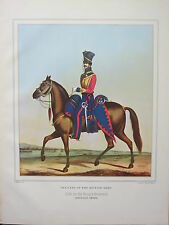 LARGE PRINT ~  CAVALRY BRITISH ARMY OFFICERS 15th (THE KING'S HUSSARS) FIELD DAY