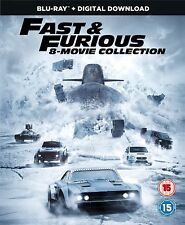Fast and Furious Complete 1 2 3 4 5 6 7 8 Blu Ray Box Set Fate of the Furious RB