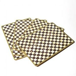 MacKenzie-Childs Courtly Check Cork Back Placemat - Set of 4