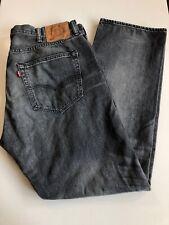 Levis 501 Men's Distressed Button Fly Jeans 40 x 32 Straight Leg Dark Gray