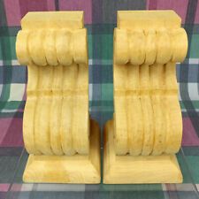 Pair of Maple Wood Corbels Custom Handcraft Millwork Trim 8-3/8T, 4-1/2W, 4-1/4D