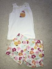 Gymboree Floral Reef flower shorts and pineapple drink top tee tank 10 EUC