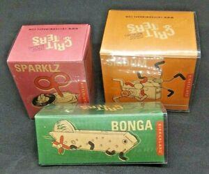 Kikkerland Bonga, Skidum, and Sparklz Windup Creature Mechanical Toy, Set of 3