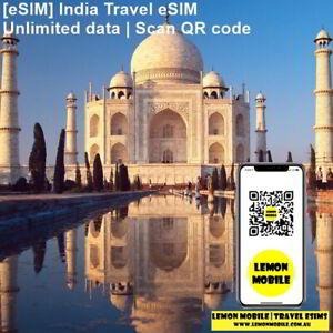 [eSIM] India travel SIM Unlimited data 4G network |Overseas roaming QR code scan