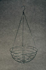 """3 pieces 10"""" Wire Hanging Planter Basket Green #06717110 Larger Sizes Listed"""