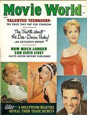 Elvis Presley Sandra Dee Debbie Reynolds Dorothy cover Movie World magazine 1961