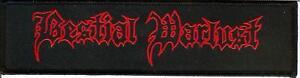 Bestial Warlust Logo Embroidered Patch Vomitor Black Metal Revenge Blasphemy